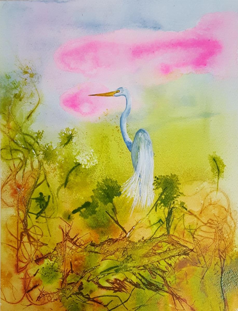 Egret at Fantasy Harbour, SOLD